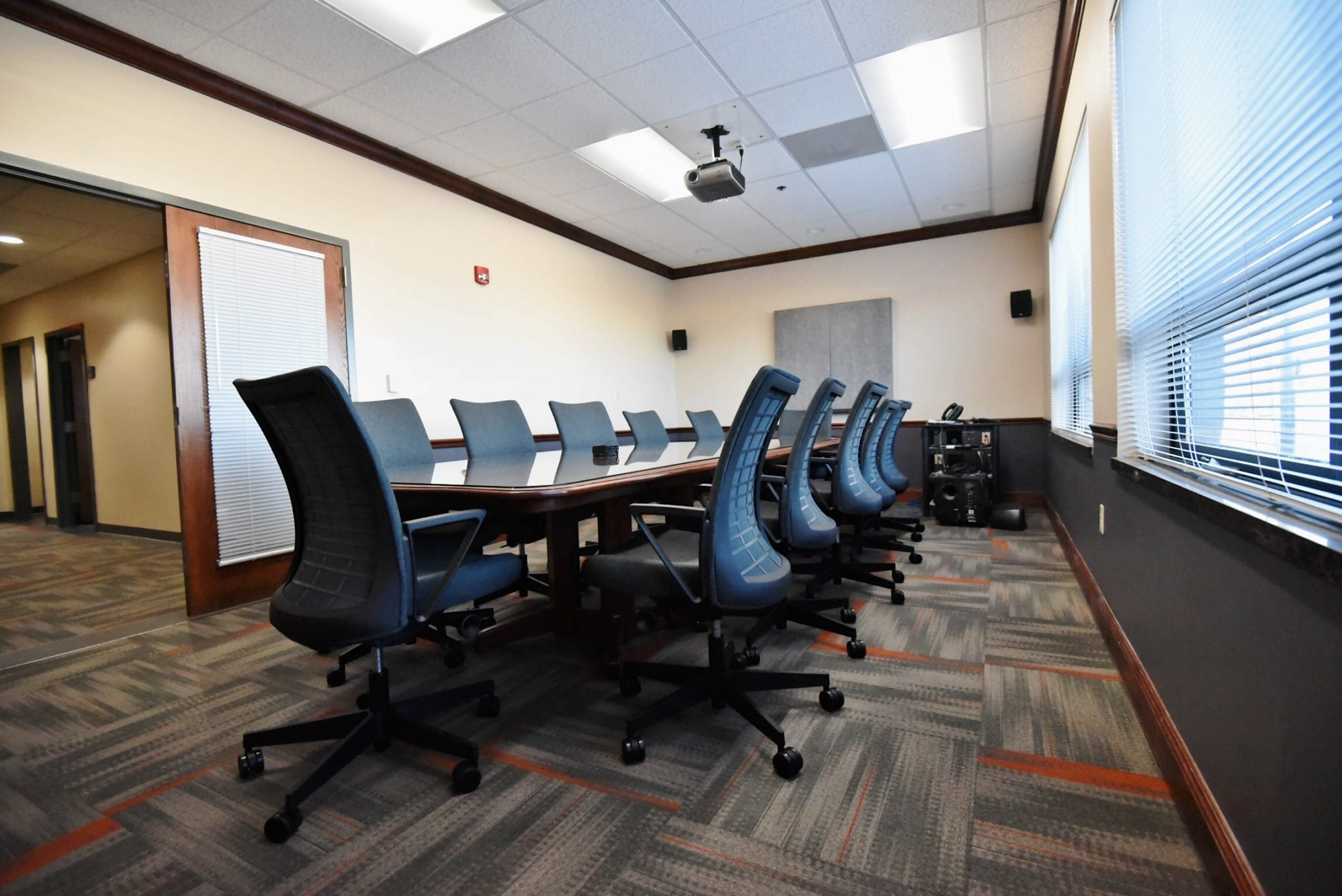 We have multiple conference rooms available for your convenience.